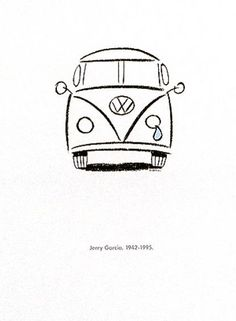 15 cars that influenced America - a VW Microbus poster in honor of the . - 15 Cars That Affected America – A VW Microbus Poster Commemorating Jerry Garcia& Death – # - Mini Drawings, Cute Easy Drawings, Cool Art Drawings, Pencil Art Drawings, Doodle Drawings, Art Drawings Sketches, Doodle Art, Drawing Ideas, Drawings Of Tattoos