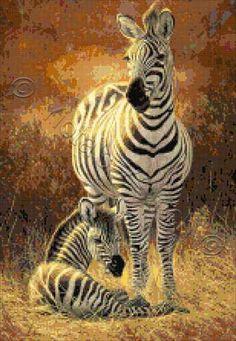A new day - zebras | Yiotas XStitch