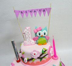 Torta Buho banderin Lechuza Un año   JMR Tortas Decoradas 1 Year Birthday, Birthday Cake, Whipped Cream Cakes, Bday Girl, Dessert Decoration, Ideas Para Fiestas, Amazing Cakes, Sugar Cookies, First Birthdays
