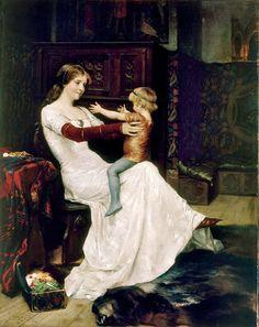 Mother and Child by Albert Edelfelt, Finnish Romanticism (1877)