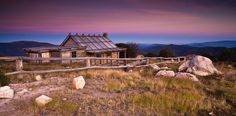 Craigs Hut Sunrise - The beautiful pink hues of a new morning over Craigs Hut in Victoria, Australia's, high country. Visit Australia, Western Australia, Australian Capital Territory, Country Scenes, Peace On Earth, Old Buildings, Sunrise, Places To Visit, Explore