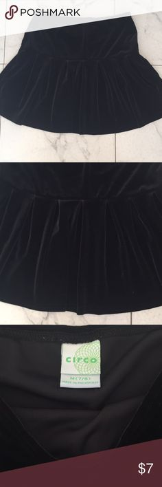 Black velveteen girls 7 skirt. Excellent condition Black velveteen girls 7 skirt. Excellent condition Circo Bottoms Skirts