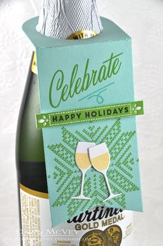 Celebrate Bottle Tag by Dawn McVey for Papertrey Ink (November 2014)