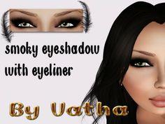 Second Life Marketplace - By Vatha's Black Smoky Eyeshadow + Black Eyeliner
