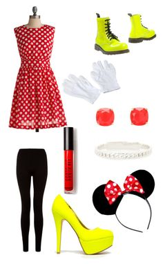 """Halloween Series - Minnie Mouse"" by c-relle ❤ liked on Polyvore featuring Emily and Fin, CO, Anne Michelle, Forever 21, Marc by Marc Jacobs, Kate Spade, Cult, Halloween and Costume"