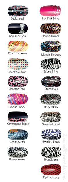 avon nail art design strips | Beauty Bits with a Dash of Nail Polish. I want the Catch the Wave, bedazzled, hot pink bling and swirled blues. $10. http://shop.avon.com/product/48175-_