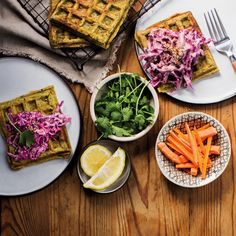 You don't even have to make these French toast waffles from the frozen ones, we included a basic waffle recipe below if you'd rather make your own. French Toast Waffles, Canggu Bali, Waffle Recipes, Tempeh, Ceviche, Cobb Salad, Frozen, Breakfast, Healthy