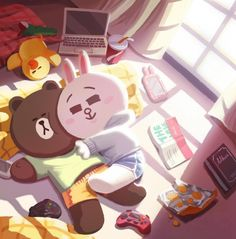 Brown and cony: sweet couple