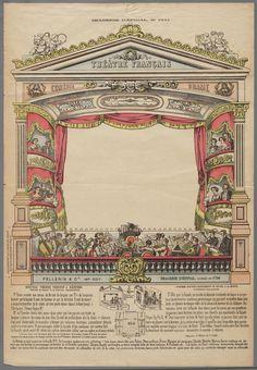 Papieren theater in kleur, voorstellende een proscenium