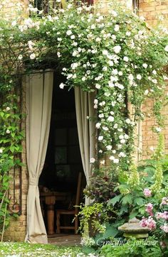 would recreate this cascading flower in greenery for a rustic chic wedding party in italy