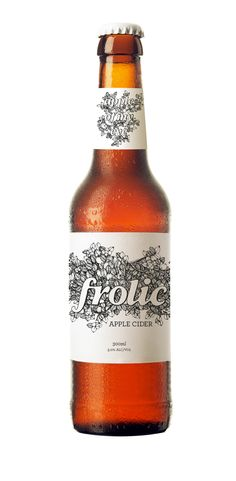We love to Frolic. Branding 'Frolic' Apple Cider by Peta Harris, via Behance
