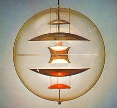 ... Verner Panton VP Globe Ceiling Light Pendant LAMP Size:Dia. 40cm. Colour:transparent (blue & red plates) Light Source:31-40W GU10*1(Include bulb)