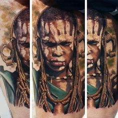glad i got asked to do an African themed portrait!! :) did this at the 2nd/3rd day of the 8th athens tattoo convention. .. #realistic #realism #TATTOO #portrait #african #africa #tribe #athenstattooconvention #saketattoo