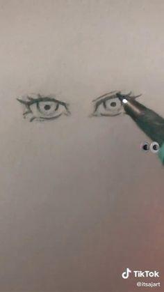 Art Painting Gallery, Sketch Painting, Art Drawings Sketches Simple, Pencil Art Drawings, Arte Do Kawaii, Japanese Drawings, Drawing Expressions, Drawing Skills, Makeup Eyes