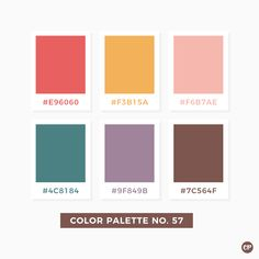 Color Palette No. 57 Source by Colour Pallette, Color Palate, Logo Inspiration, Color Patterns, Color Schemes, Web Design, Color Psychology, Psychology Meaning, Psychology Studies