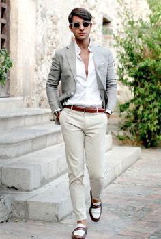 costume homme dépareillé | Mode Homme Tenue Classe Pour Un Mariage à La Plage Pictures to pin on ...