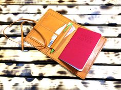 Leather Notebook cover Leather Field Notes cover by MihaiLeather