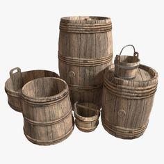 Medieval Barrels | 3D Model
