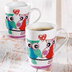 "Becher-Set ""Lovely Owls"" 2-tlg. von BELACONA"