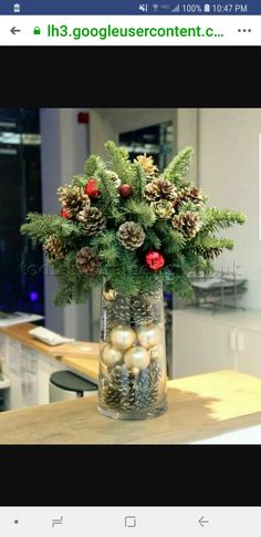Below are the Christmas Table Centerpieces Decoration Ideas. This post about Christmas Table Centerpieces Decoration Ideas was posted under the … Magical Christmas, Noel Christmas, Rustic Christmas, Winter Christmas, Christmas Wreaths, Christmas Crafts, Beautiful Christmas, Elegant Christmas, Christmas Candles