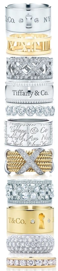 Tiffany Rings ... My newest obsession ... Just need the top one :)