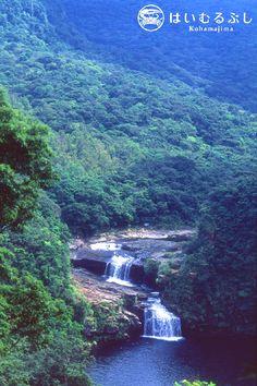 秘境西表島の奥地、浦内川の上流にあるマリュウド&カンピレーの滝。  日本の滝百選にも選ばれる壮大な滝で、マリュウドとは『丸い淀み』の意味。