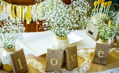 yellow bridal shower feature