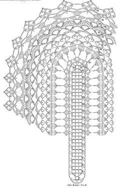 Crochet Table Center - Light: