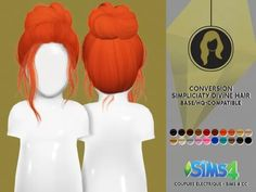 Simpliciaty Divine Hair Toddler - The Sims 4 Download - SimsDom