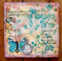 mixed media canvas - Google Search