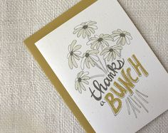 Thank You Card - Thanks a Bunch. $4.00, via Etsy.
