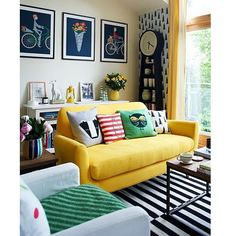 #decoration #salon #couleur #jaune