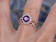 Discover The Beauty Of Vintage Engagement Rings Cute Jewelry, Unique Jewelry, Jewlery, Vintage Engagement Rings, Purple Amethyst, Promise Rings, Sapphire, Rose Gold, Gemstones
