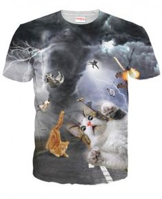 ŚWIAT KOTÓW Koszulka Tshirt Full Print