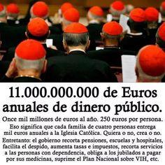 La millonada que destina el Estado a la Iglesia mientras la gente pasa hambre.