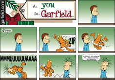 Today on Garfield en Español - Comics by Jim Davis Garfield Quotes, Garfield Cartoon, Garfield And Odie, Garfield Comics, Garfield Christmas, Christmas Humor, Funny Cat Pictures, Funny Photos, Animal Pictures