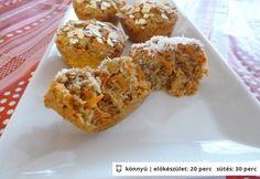 Duplán kókuszos répa muffin