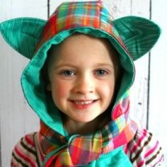 Learn how to make your own adorable hooded scarf with this link.