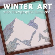 Make your own incredibly sparkly DIY Winter Art with DecoArt Holographic Illusions! (AD) Click for the full written tutorial! Winter Home Decor, Winter Art, Painting Videos, Easy Paintings, Diy Art Projects, Glitter Paint, Mountain Art, Love Craft, Diy Wall Art