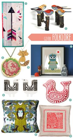 Traditional techniques meet primary palettes, clean outlines and simple prints in our Folklore Style Trend Report with Mollie Makes magazine. #trendreport #styleguide #trends