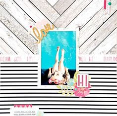 #Papercraft #scrapbook #layout.  You're a Water Baby by Aimee Dow