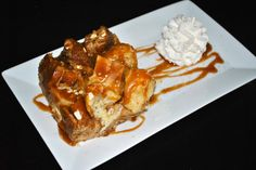 Bread Pudding with Whiskey Bourbon Toffee Sauce
