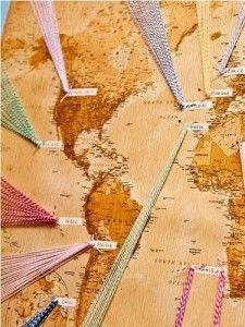 plan de table carte du monde Abstract, Inspiration, Artwork, Charlotte, Wedding Ideas, Deco, Image, Travel, Room