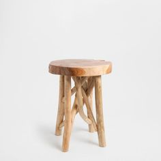Mesa pequena madeira teca m veis auxiliares zara home - Mesas auxiliares zara home ...