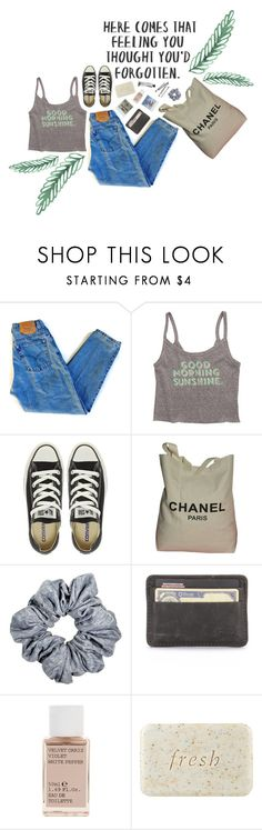 """""""GOOD MORNING SUNSHINE"""" by sydnaayyy-13 ❤ liked on Polyvore featuring Levi's, Billabong, Converse, Chanel, BOBBY, Polaroid, Korres and Fresh"""