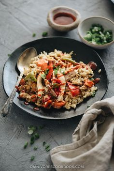 Asian Instant Pot Chicken and Rice - A hearty one-pot meal with an Asian twist! This Instant Pot chicken and rice is super easy to make and so delicious.
