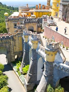Pena National Park. The palace construction started in 1840 and was finished by 1885. BOOK SINTRA NOW! http://www.booking.com/city/pt/sintra.html?aid=367071