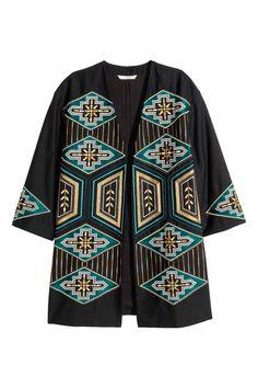 Jachetă cu broderie | H&M