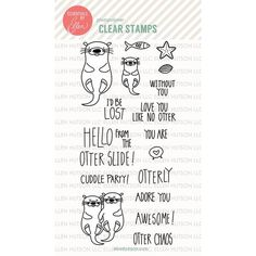 Ellen Hutson, LLC features Essentials By Ellen Clear Stamps, Otterly Awesome By Julie Ebersole.