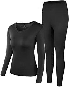 Thermal Underwear Women Ultra-Soft Long Johns Set Base Layer Skiing Winter Warm